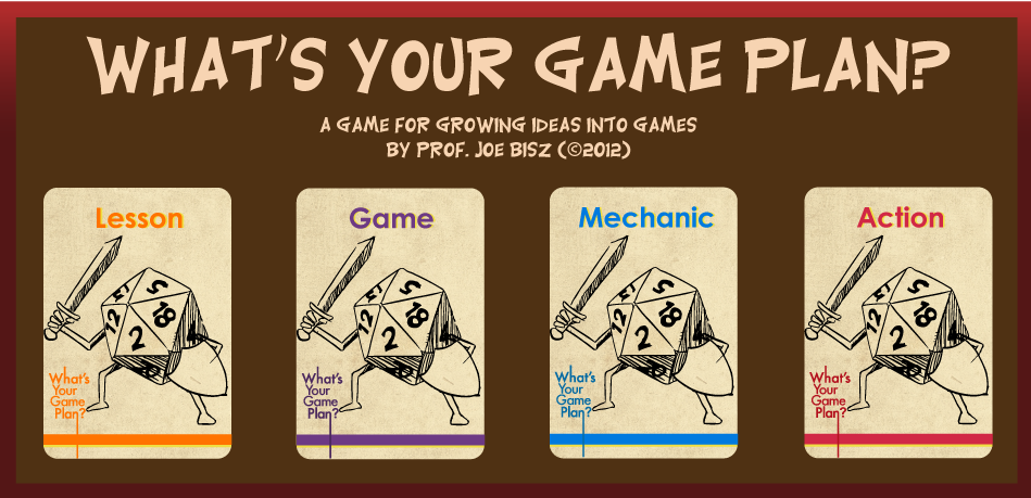 Designer Joe Bisz And GameBased Learning - Game design ideas